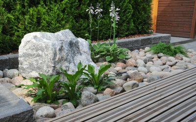 Ennen | Jälkeen: Piha ilman nurmikkoa