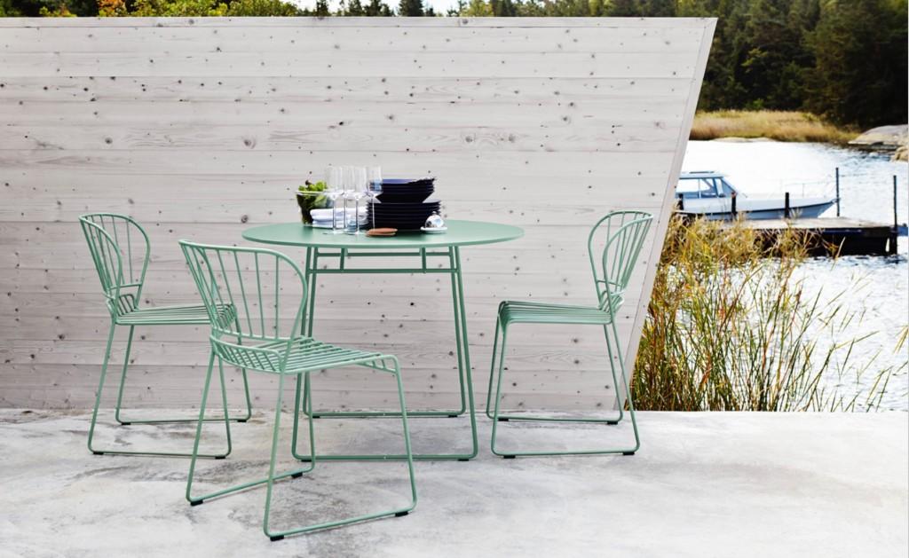 Resö pöytä ja tuolit - vaaleavihreä