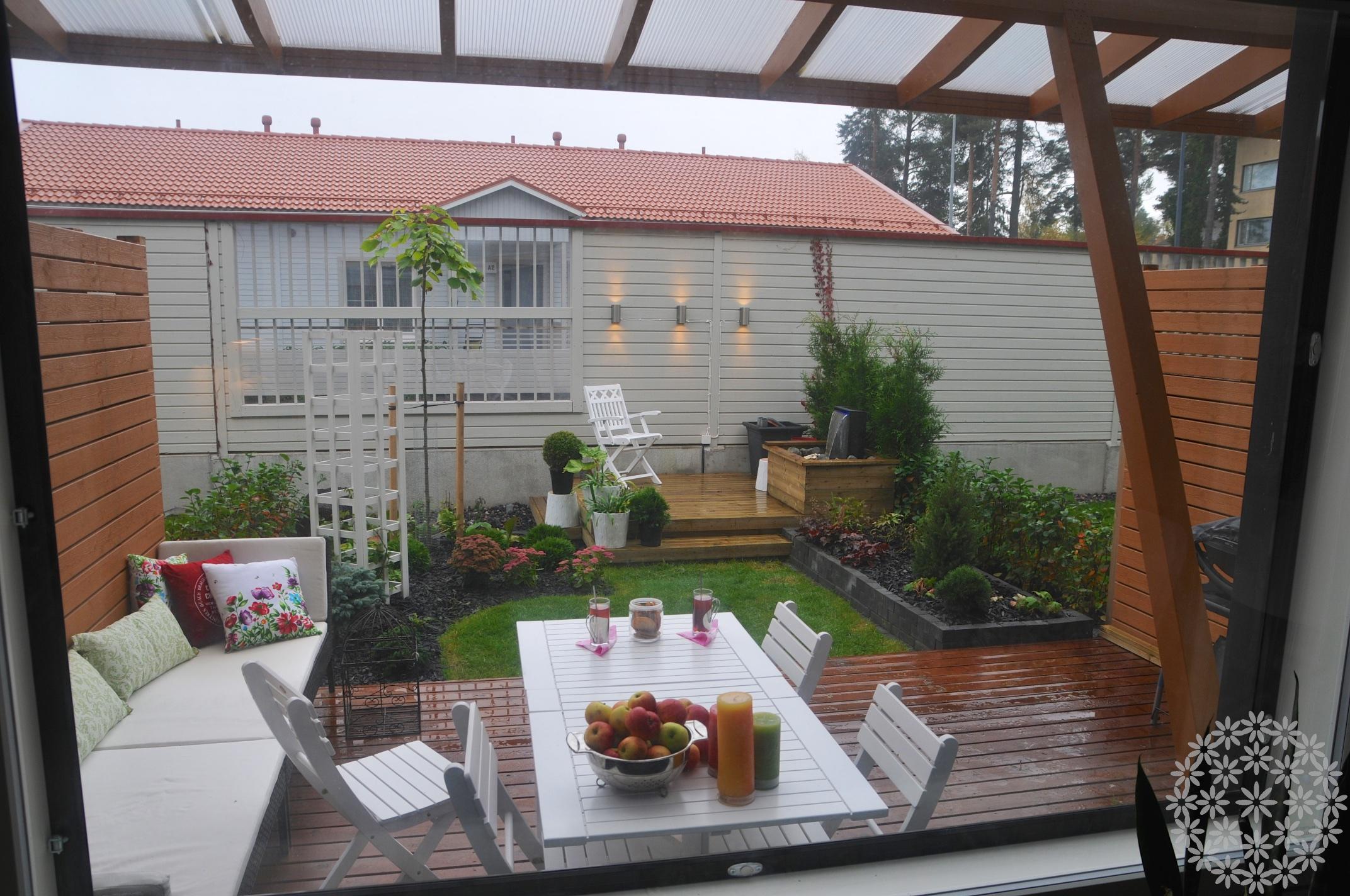 Tärkeä ikkunanäkymä – Rivitalopiha itse rakentaen